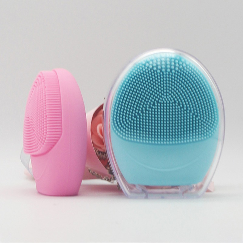 Ultrasonic Facial Cleansing Brush Washing Machine Waterproof Deep Pore Cleaning Exfoliating Mini Electric Massage Brush