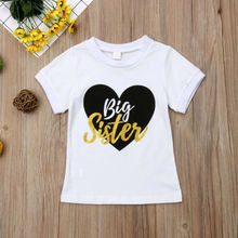 Big Sister Little Brother Matching Outfits Baby Boy Bodysuits Girl T shirt Kids Top Tee Clothes Set pudcoco children clothing little brother bodysuit and big sister t shirt matchables summer outfits
