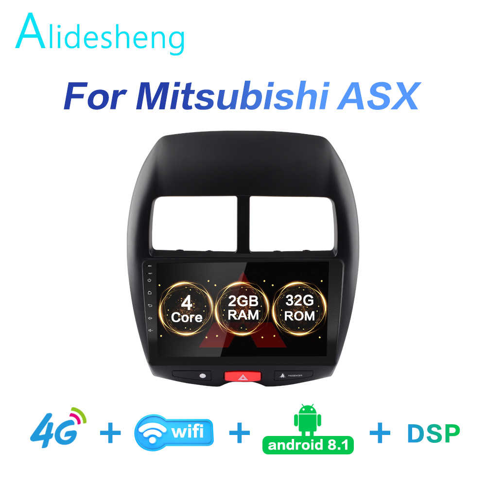 2G + 32G DSP 2 din Android 8,1 4G Red auto Radio Multimedia reproductor de vídeo para Mitsubishi ASX 2010, 2011, 2012, 2013, 2014-2017 WiFi BT