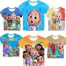 New 3D Cocomelon Cute T Shirts for Girls Boys Kids Camiseta Toddler Cartoon Anime T-shirts Summer Children Tshirt Streetwear Tee