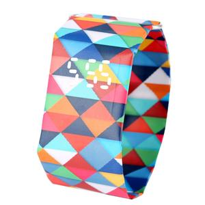 Paper-Watch Gift Digital-Time-Display Dupont Squares-Pattern Girlfriend Colored Durable