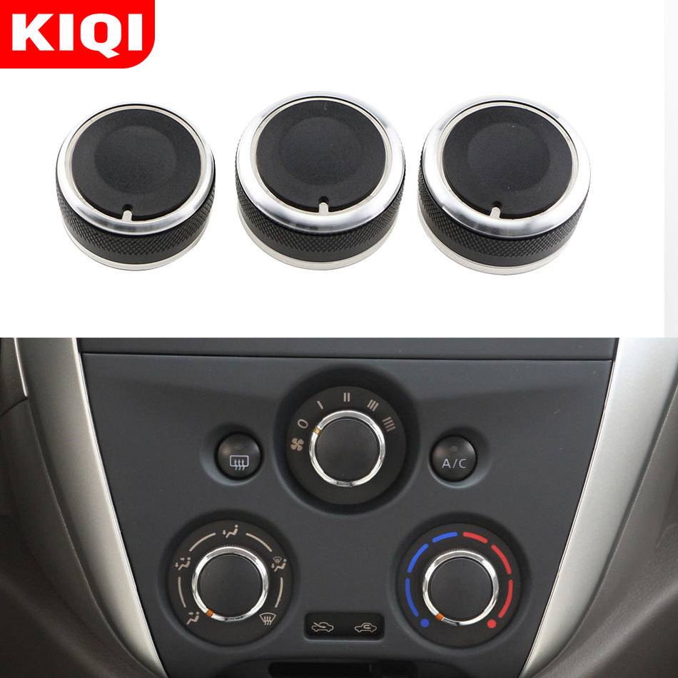 KIQI AC Knob For Nissan Versa Note March Micra Cube Almera Latio Sunny Air Conditioning Heat Control Switch Knobs Accessories