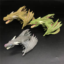 6.5 Game of Thrones Rhaegal Titans Vinyl luminous Dragon Figure collection model toy No box [funny] collection crafts sword of the berserk nosferatu zodd fushi no zoddo figure statue bust dragon mountain resin model gift