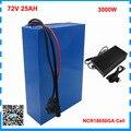 3000 Вт 72В 25ач Аккумулятор для скутера 72В 17ач литиевая батарея 72В ebike аккумулятор с аккумулятором GA 3500 мАч 50A BMS 82А зарядное устройство