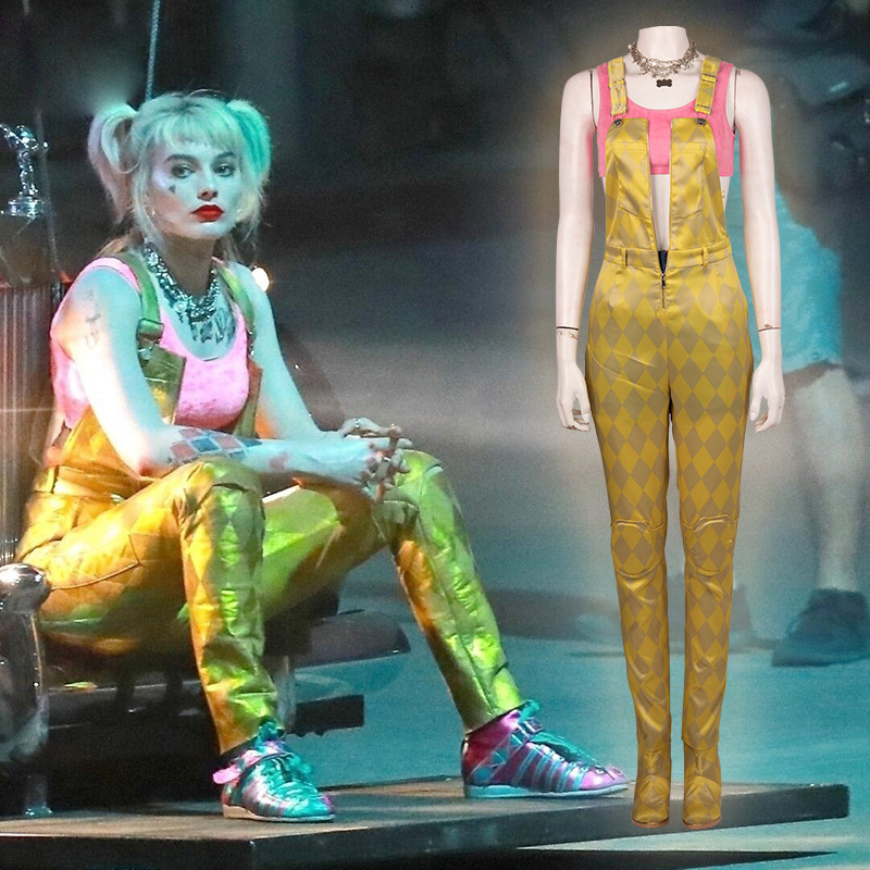 Adult Suicide Squad Harley Quinn Woman Cosplay Costume Outfit Boots (Full set