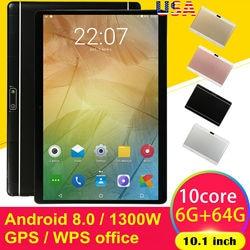 Juego HD de 10,1 pulgadas tableta PC Android 8,0 diez núcleos GPS WIFI tableta de doble cámara Pad soporte tarjeta Sim Dual
