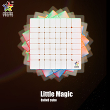 цена на YUXIN Little Magic 8x8x8 Speed Cube Professtional Stickerless Puzzle Cube 8x8 Educational Funny Toys For Children
