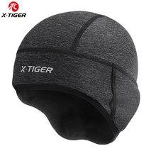 X-TIGER男冬防風熱フリースサイクリングキャップランニングスキーバイク用乗馬ヘッド帽子女性mtbバイクサイクリング帽子