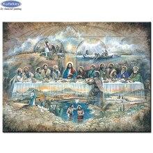 Jesus bordado de diamante redondo 5d, conjunto completo de mosaico, pintura com diamantes 5d, suporte longo, fotos de música, pastes, presente