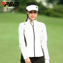 Pgm outono e inverno golfe roupas femininas jaqueta esportiva ao ar livre/blusão à prova de vento e à prova de chuva, confortável e quente