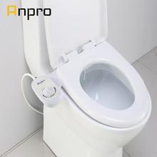 Anpro غير الكهربائية الحمام الميكانيكية بيديت مقعد المرحاض فوهة ماء الطازجة واحدة الرش مسدس الغسيل أمراض النساء