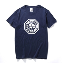 American TV Play Series LOST Dharma Initiative T-Shirt Fitness Cotton Short Sleeve Fans T Shirts Tops Tees Camisetas Masculinas