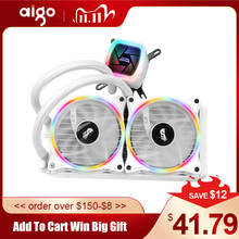 Aigo CPU Cooler Liquid 120mm Radiator Quiet Fan PWM Computer Case Water Cooler All In One CPU Cooling INTEL/AMD AM4 with Support