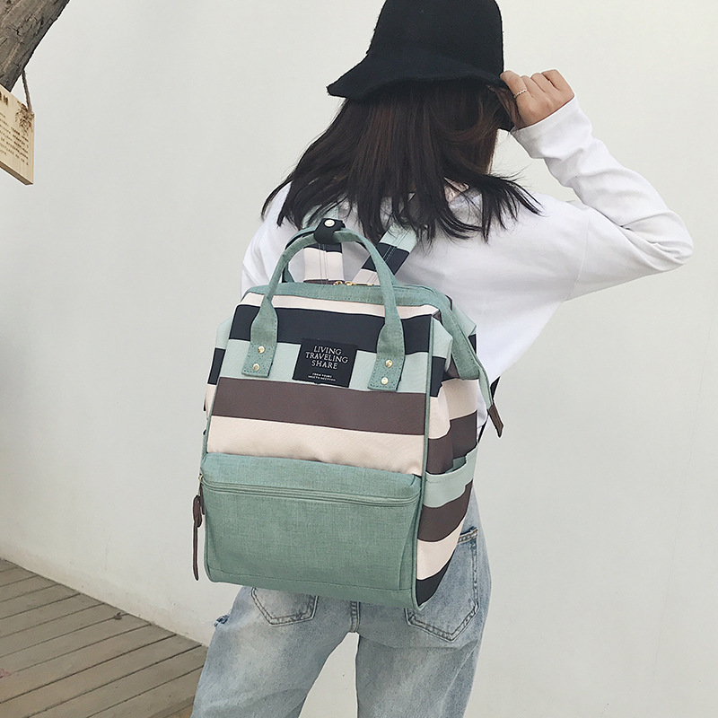 Korean-style Large-Volume Backpack Women's Lightweight Oxford Cloth Multi-functional Backpack Fashion Diaper Bag