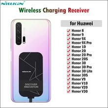 Nillkin – récepteur de charge sans fil Qi, adaptateur de Type C pour Huawei 8 9 10 20 30 Pro 20S 30S V9 V10 V20 V30 9X Pro, connecteur USBC