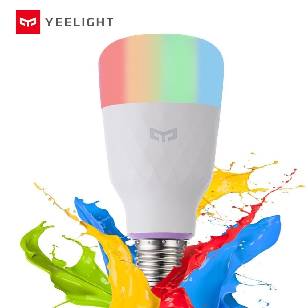 English Version   Yeelight Smart LED Bulb 1s Colorful 800 Lumens 8 5W E27 Lemon Smart Lamp For smart Home App White RGB Option