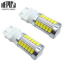 2x 3157 LED White 3057 33SMD T25 Bulbs P27/7W Car Lights Rear Brake Reverse Parking Light Turn Signal 12V