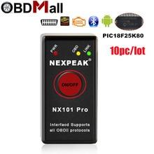 10pcs ELM327 V1.5 Bluetooth with PIC18F25K80 Chip For Android OBD 2 Car Diagnostic Tool ELM327 Bluetooth v1.5 OBD2 Scanner tool