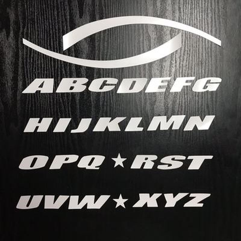 Image 5 - 4 set letter tire sticker modified car styling 3D logo car stickers rubber car decal personalized Audi sticker