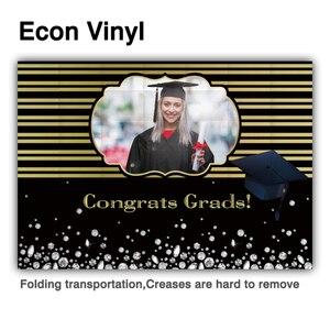 Image 2 - Funnytree 2021 graduação pano de fundo personalizado foto da criança preto azul photophone papel de parede parabéns grad diamante fundo banner