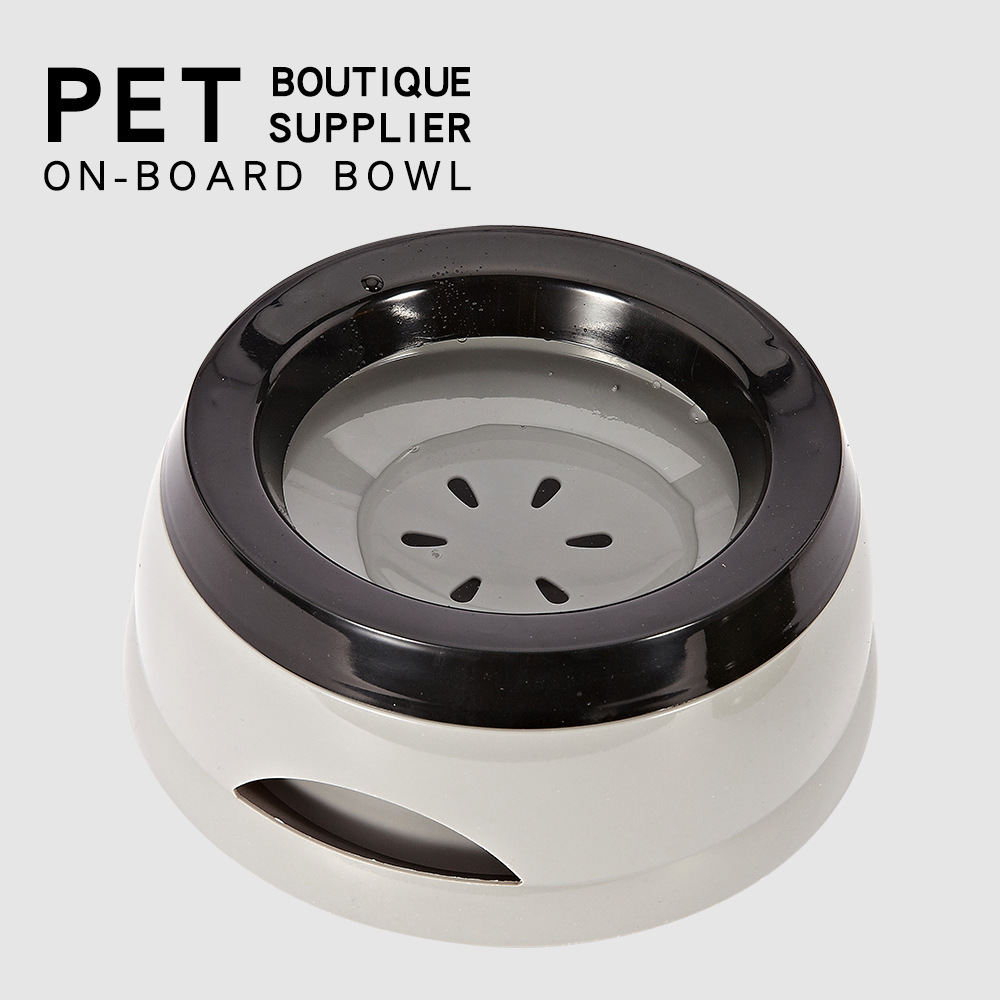Pet Dog Bowls Floating Not Wetting Mouth Cat Bowl No Spill Drinking Water Feeder Plastic Portable Dog Bowl Support Dropshipping