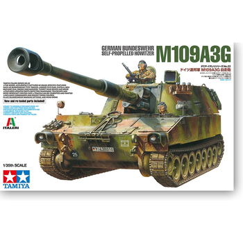 Tamiya 37022 1/35 German Self-Propelled Artillery M109-A3G Howitzer Display Collectible Toy Plastic Assembly Building Model Kit