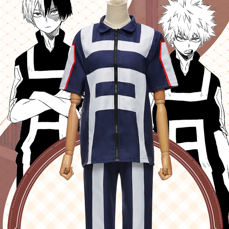 My Hero Academia Boku No Hero Cosplay Costume Men Women School Uniform Sport Suit Tshirt Pants Izuku Midoriya Todoroki Shouto