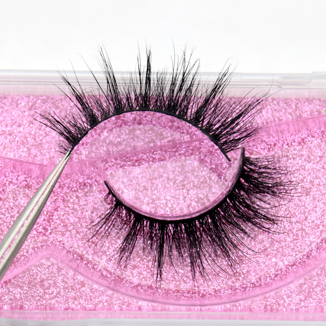 Visofree Luxury 5D Mink Hair False Eyelashes Wispy Cross Fluffy Mink Lashes Extension Tools Makeup Handmade Mink Eyelashes K21