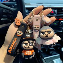2020 New Orangutans Doll Keychains Cute Animal Monkey Pirate Skull Children Car Bag Silicone Pendant Keyring Lovers Charm Gifts