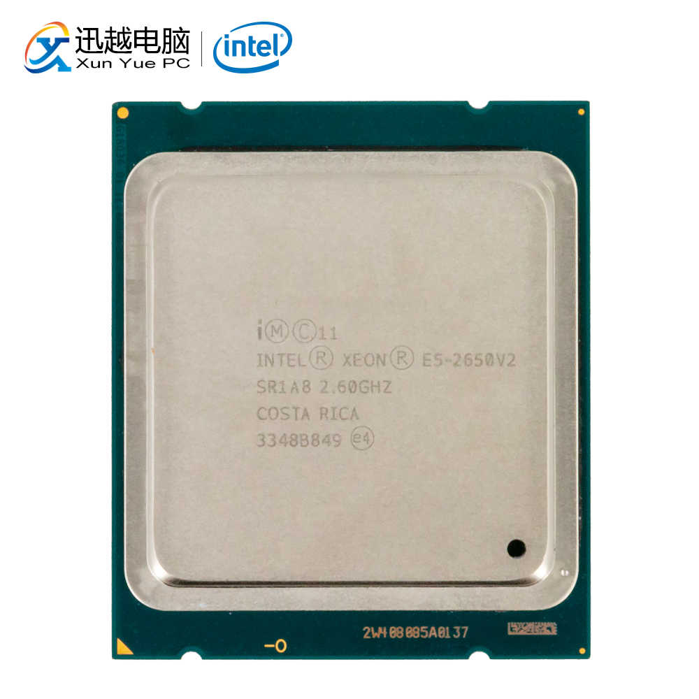 Intel Xeon E5-2650 v2 Desktop Processor 2650 v2 Acht Core 2.6GHz 20MB L3 Cache LGA 2011 Server Gebruikt CPU