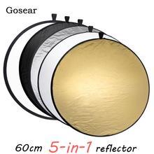 Gosear 60 см Портативная Складная круглая камера осветительное оборудование фото Диск Отражатель рассеиватель комплект чехол для фотосъемки