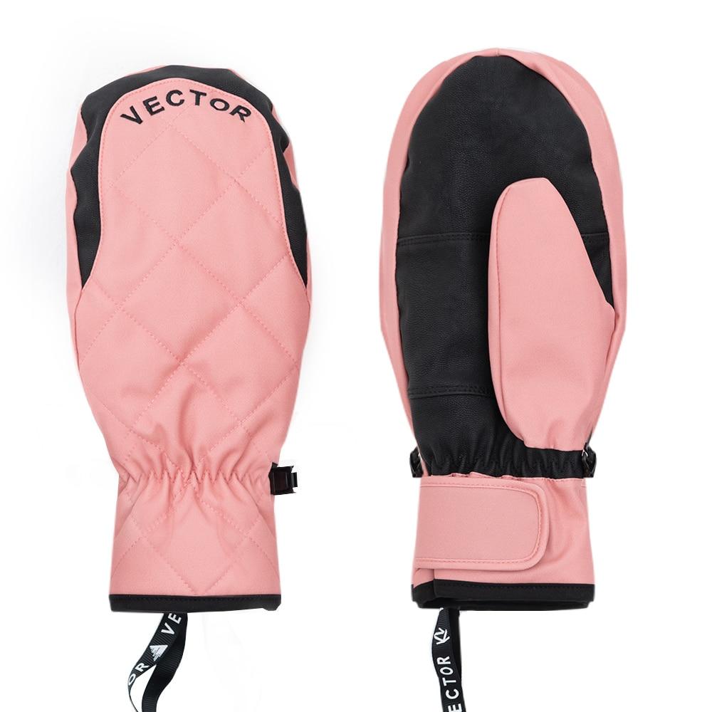 Очень толстые женские 2 в 1 варежки лыжные перчатки для сноуборда мужские зимние спортивные теплые водонепроницаемые ветрозащитные лыжные ...