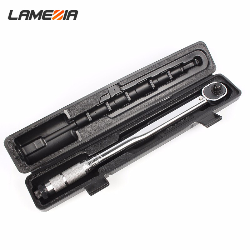 LAMEZIA 1/2 Universal Torque Wrench Drive Two-way Precision Ratchet Spanner Car Repair Hand Tools