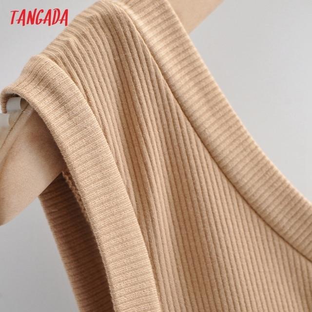 Tangada Women Solid Color One Shoulder Mini Dress Strap Sleeveless 2021 Fashion Lady Sexy Party Dresses Vestido 4P88 4