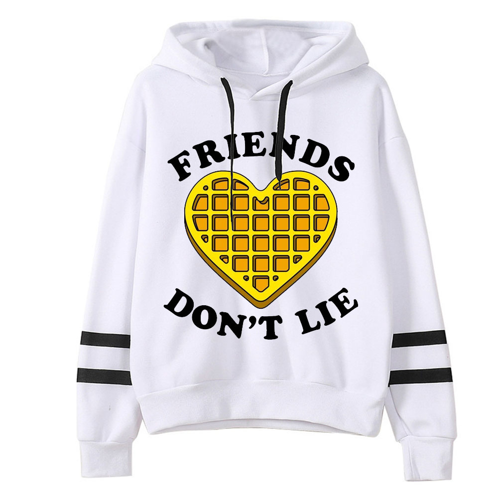 2019 Spring Women Stranger Things Print Hoodies Harajuku Female Long Sleeve Hooded Casual Friends Dont Lie Printting Sweatshirts