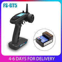 FlySky FS GT5 2.4G 6CH RC Transmitter Remote Controller with FS BS6 Receiver for RC Car Crawler Boat Vehicle RC Model Car Parts