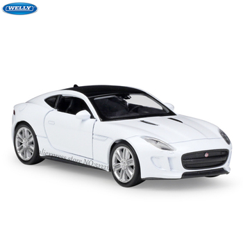 цена на WELLY 1:36 JAGUAR F-Type Coupe alloy car model machine Simulation Collection toy pull-back vehicle Gift collection