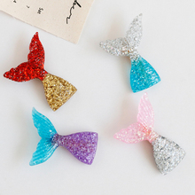 1pc INS Fashion Cute Acetate Mermaid Fishtail Hair Clip For Princess Girls Party Gift Shining Colorful Sequin Hairgrips Headwear