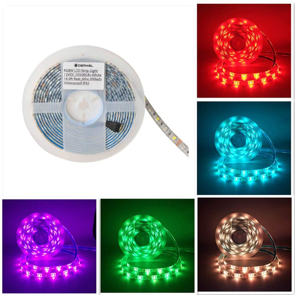 Smart Wifi RGBW Strip Lights Kit Magic Work With Echo Alexa Plus Google Home Voice Control Waterproof 5M 300leds RGB Strip