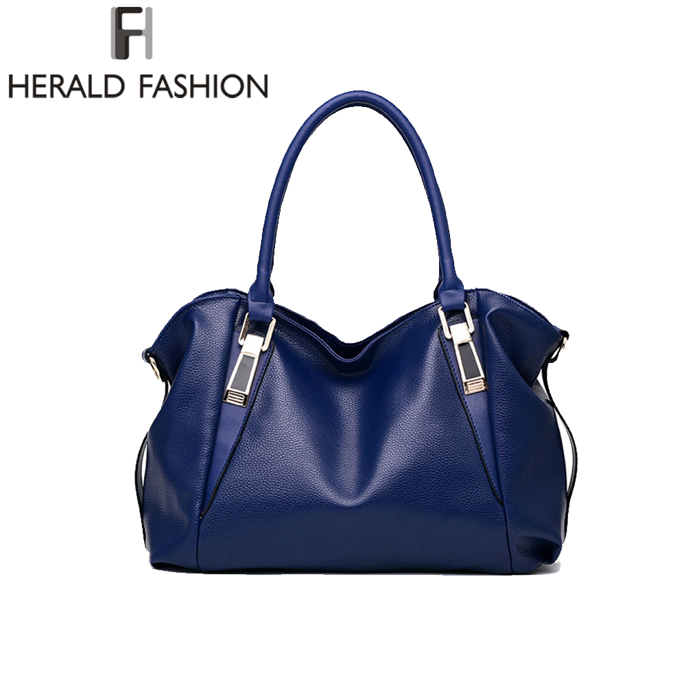 Herald moda feminina bolsas de qualidade feminina hobos sacos de ombro único vintage sólido multi-bolso senhoras totes bolsas sac