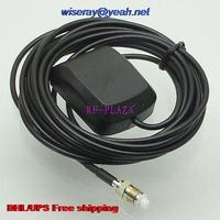 Tüketici Elektroniği'ten Pil Aksesuarları ve Şarj Aksesuarları'de EMS 50 adet GPS anten FME Dişi 3M Hava Araba GPS Navigasyon Aktif Anten Alıcı anten GPS hava antennae A1