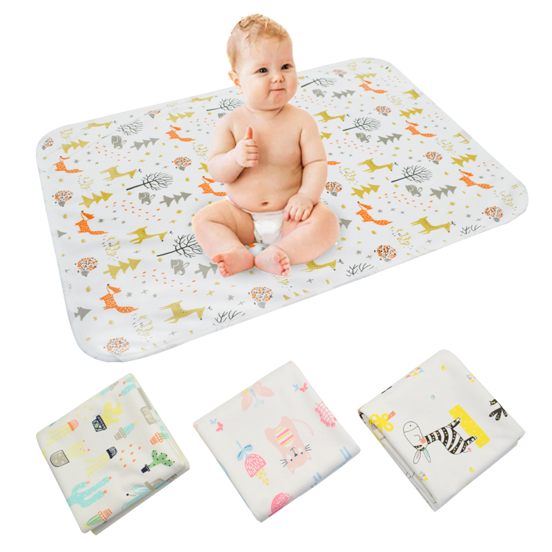 [Mumsbest] Baby Diaper Cover Changing Pads Big Size Washable Waterproof Newborn Portable Urine Pad Baby Changing Mat 5 Size