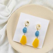 цена на 2019 New Korean Advanced Sense of Color Matching Irregular Earrings Tide Earings Fashion Jewelry  Dangle Earrings Long Earrings