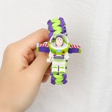 Toy Story Figure Toy Buzz Lightyear Woody Bracelet Avengers Iron Man Hulk Batman Block Toy Action Figure Children Christmas Gift