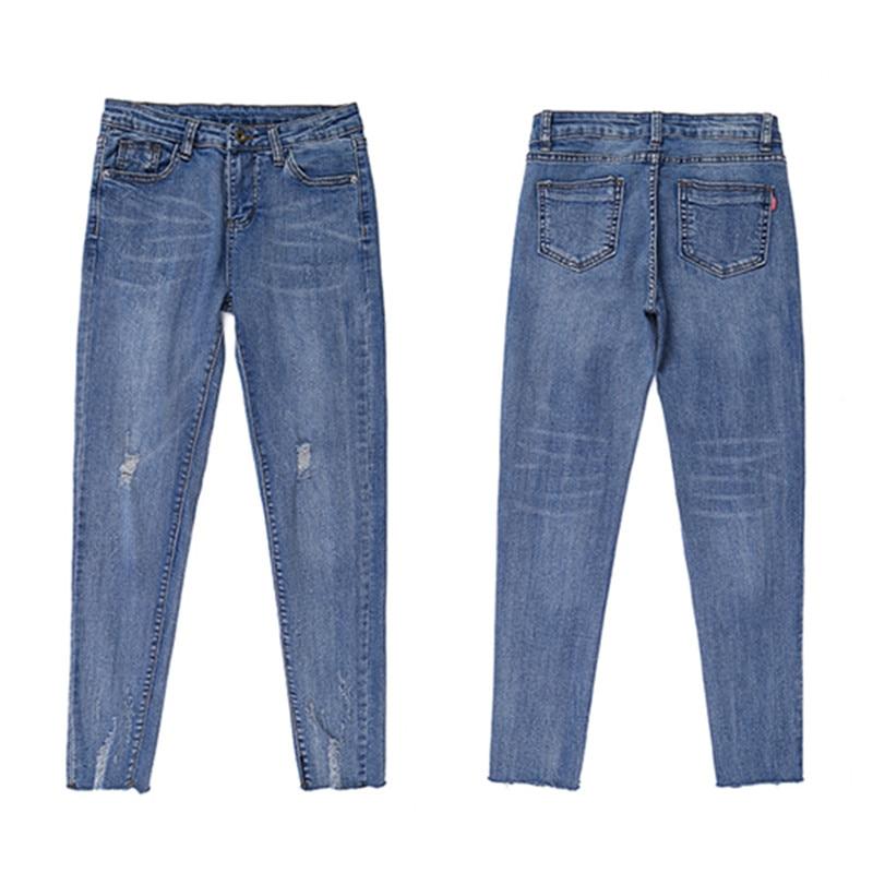 JUJULAND Fashion Hot Women Lady Denim Skinny Pants High Waist Stretch Jeans Slim Pencil Jeans Women Casual Jeans 3230