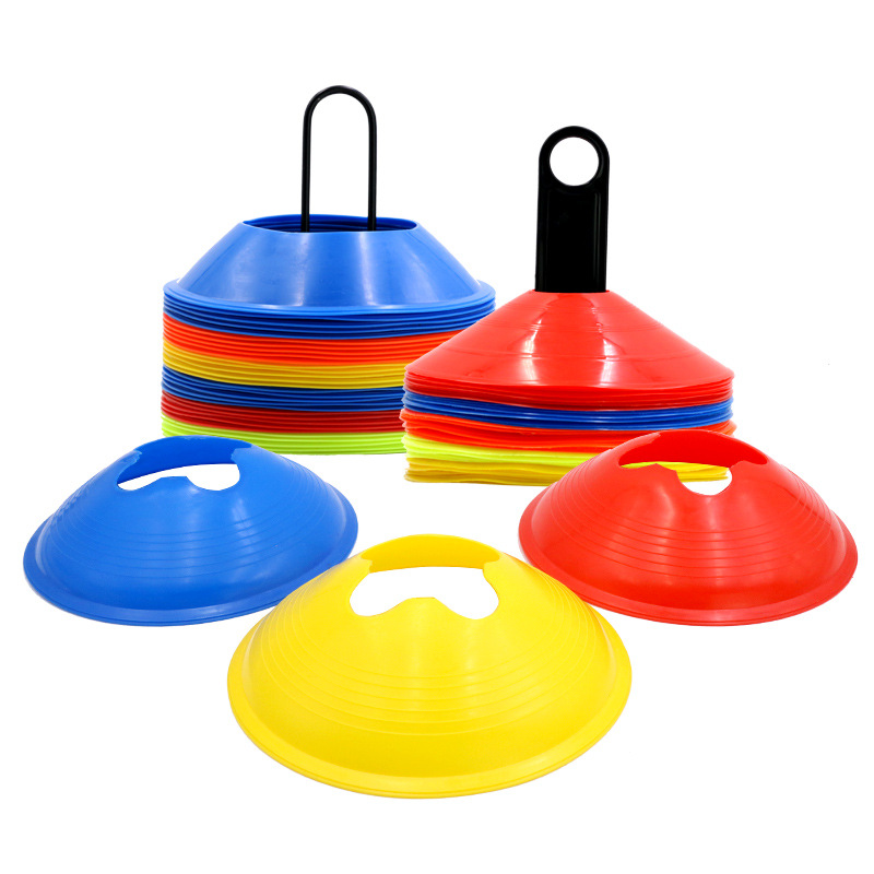 10 Pcs Soccer Training Sign Flat Pressure Resistant Cones Marker Discs Barrier Marker Inline Skating Speed Training Accessories