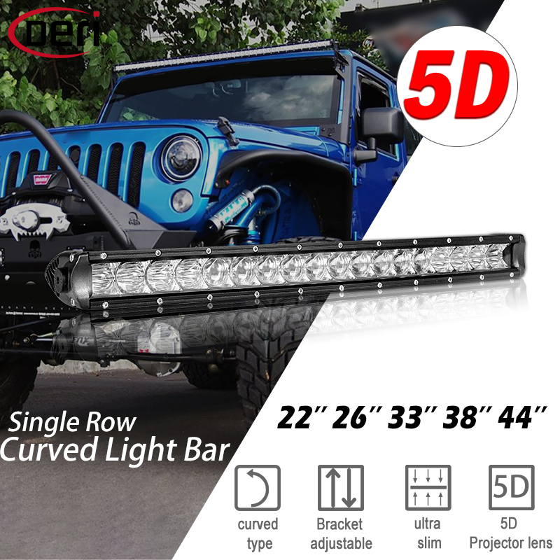 """Due 6/"""" 24w Sottile Barra Combo luci LED ultra LIGHTBAR OFFROAD SUV ATV CAMION 4x4"""
