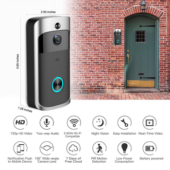 Smart Doorbell, Wireless Wifi Camera, Apartment Video Intercom, Doorbell, Phone Doorbell, Home Security Cameras