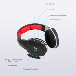 Image 4 - HW N9U 2.4GHzหูฟังไร้สายสำหรับเล่นเกมVirtual 7.1 Channel Surround Soundพร้อมไมโครโฟนสำหรับPS4/PC/mac