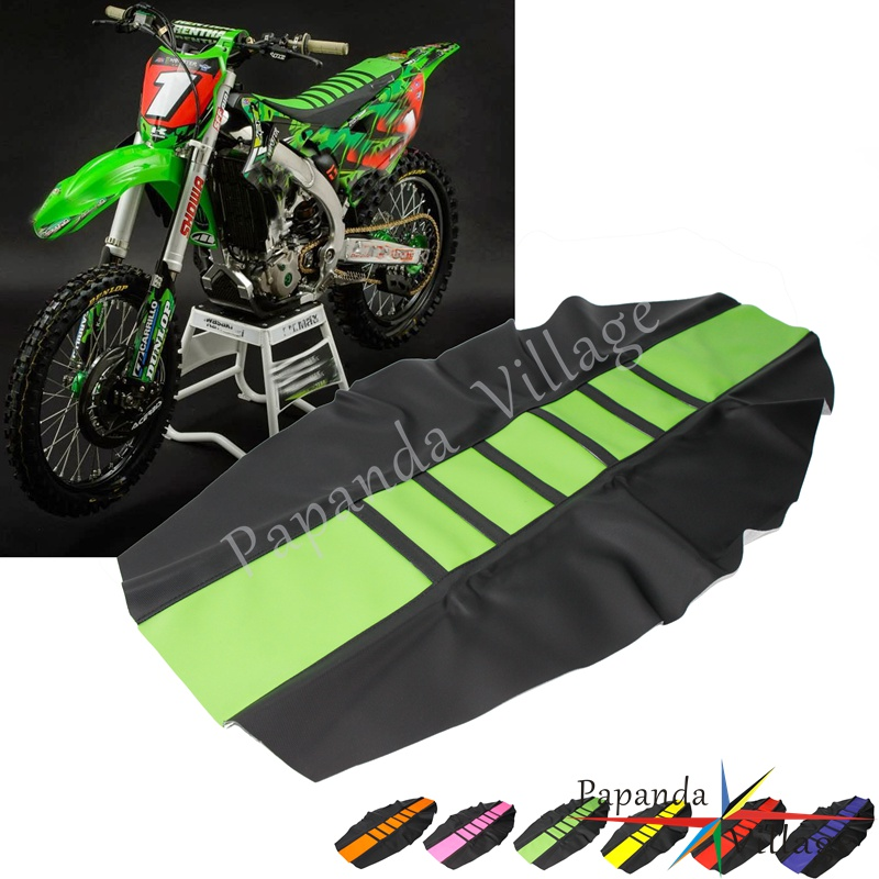 For Kawasaki KX65 KX85 KX450F KX250 Off-road Motorcycle Rubber Soft Seat Cover